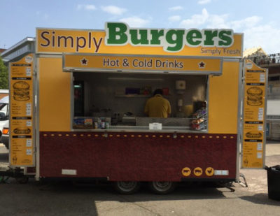 Graphics for a burger and wraps food trailer