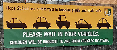 Coronavirus Covid19 message PVC banners for schools