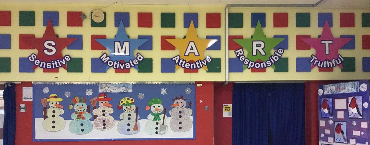 SMART Values signs for a Primary School