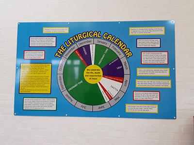 Liturgical Calendar school signage