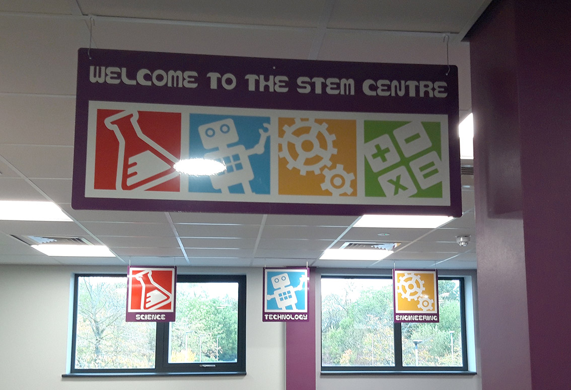 STEM Centre signs for a Primary School