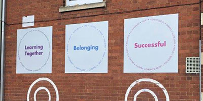 School Values sign in playground