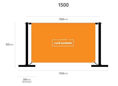 Economy cafe barrier sizes
