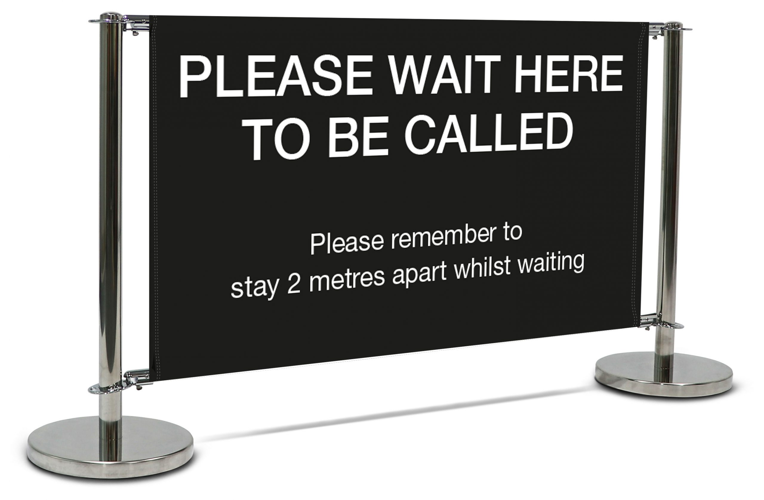 Deluxe queue system cafe barrier for schools and businesses