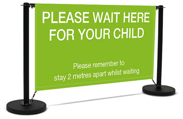 Queue control system cafe barrier for schools and businesses