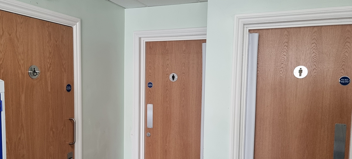 Classroom door signage for schools