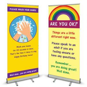 Coronavirus Covid-19 Banner Stands for schools