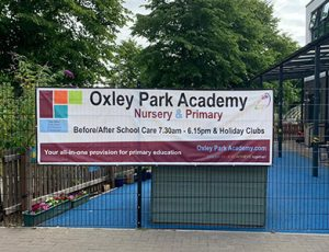 PVC banner for a Nursery and Primary Academy