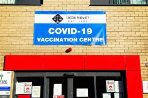 Covid-19 Vaccination site pvc banner signage for a Pharmacy