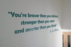 School signage vinyl quotes on wall