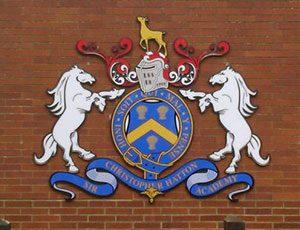School crest signage
